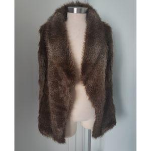 Savile Row London Faux Fur Brown Vest